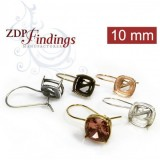 10mm 4470 Swarovski Kidney Wire Earrings, Choose your options