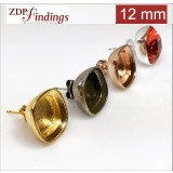 12mm 4470 Swarovski Post Earrings, Choose your options