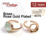 12mm 4470 Ring Base Rose Gold