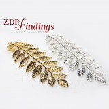 90X32mm Huge Leaves Charm Pendant