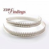 12 Inch Gallery Wire 935 Sterling Silver , 7.2 x 0.8mm