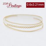 7.7mm x 0.6mm Brass Strip Gallery Decorative Ribbon Wire
