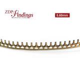 5.6mm Width Brass Gallery Pattern Wire, 24 inch