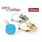 Square 12mm Earring Setting Fit Swarovski 4470