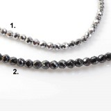 "4mm Faceted Round Natural Hematite Beads 16"" (104000)"