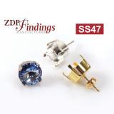 ss47 1122 Swarovski Post Earrings
