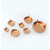 Brass Round Base Bezel s Fit Rivoli Swarovski Crystal-12mm