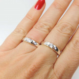 Solitaire Silver 925 Zirconia CZ Crystal Ring -6