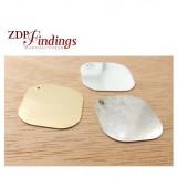 Square 25mm Plain Disc Charm Pendant