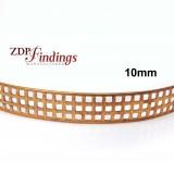 10mm Width Brass Gallery Pattern Wire, 24 inch