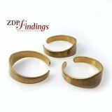 Adjustable Brass Ring Setting Blank, 8mm top