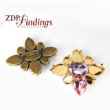 90x75mm Brooch Setting Fit Swarovski 4127, 4327, 4320