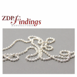 2 Meters Sterling Silver Ball Chain