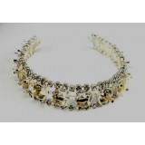 Silver Bracelet Base for European Crystals 39SS Stones with Crystal Rhinestones