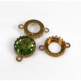 12mm Round Brass Bezel Cup