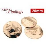 12mm Round Rose Gold Discs