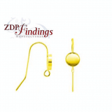 Round Bezel Cup 14k Gold Filled French Wire Earrings