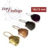Pear 18x13mm Kidney Wire Earring Fit Swarovski 4320