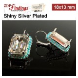 18x13mm 4610 Swarovski Lever back Rhinestone Earrings