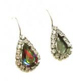 13x7.8mm 4328 European Crystals Lever back Rhinestone Earrings