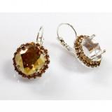 12mm 4470 European Crystals Lever back Rhinestone Earrings