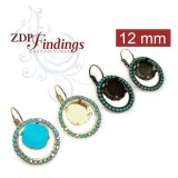12mm 4470 Swarovski Lever back Rhinestone Earrings