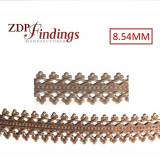 24 Inch (61cm) x 8.54mm Width Brass Strip Gallery Decorative Filigree Pattern Wire