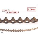 24 Inch (61cm) x 5mm Width Brass Strip Gallery Decorative Filigree Pattern Wire