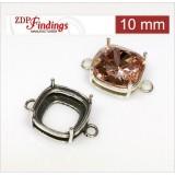10mm Square (cushion) 925 Sterling silver Bezel