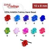 10x8mm Opal Hamsa Hand Bead Charm Pendant