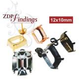 12x10mm 4600 Swarovski Post Earrings, Choose your options