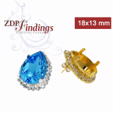 18x13mm 4320 Swarovski Post Rhinestone Earrings, Choose your options