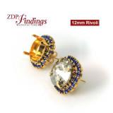 12mm 1122 European Crystals Post Rhinestone Earrings