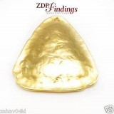 Quality Cast 45x38mm Triangle Pendant Decoration Matte Gold Plated