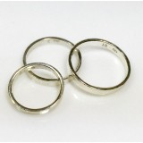 Sterling silver thick ring band Size 8