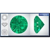 3.00mm 1088 Swarovski Crystal Rock Green