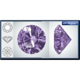 3.00mm 1088 Swarovski Crystal Rock Purple